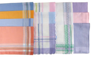 Household LADIES COLOURED HANDKERCHIEFS