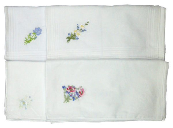 Household LADIES EMBROIDED HANDKERCHIEFS