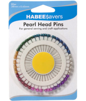 Haberdashery PEARL HEAD PINS 80 PACK