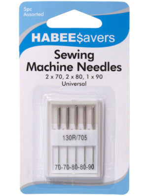 Knit & Sew SEWING MACHINE NEEDLES -5 pack