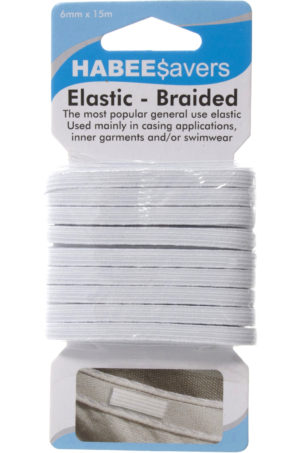 Haberdashery ELASTIC BRAIDED 6x15mm