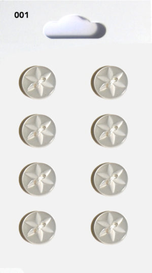 Knit & Sew ROUND STAR BUTTONS – CLEAR – 001