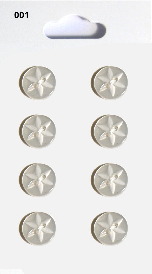 Buttons ROUND STAR BUTTONS – CLEAR – 001