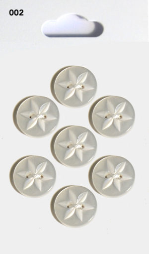 Buttons ROUND STAR BUTTONS – CLEAR – 002
