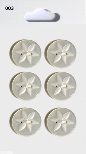 Buttons ROUND STAR BUTTONS – CLEAR – 003