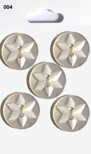 Knit & Sew ROUND STAR BUTTONS – CLEAR – 004