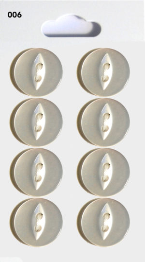 Knit & Sew FISHEYE BUTTONS – CLEAR – 006
