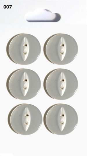 Knit & Sew FISHEYE BUTTONS – CLEAR – 007