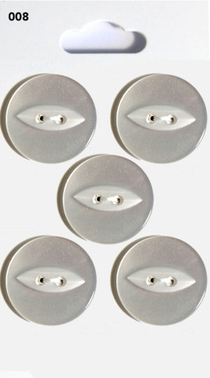 Knit & Sew FISHEYE BUTTONS – CLEAR – 008