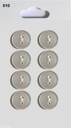 Knit & Sew ROUND BUTTONS – CLEAR – 010