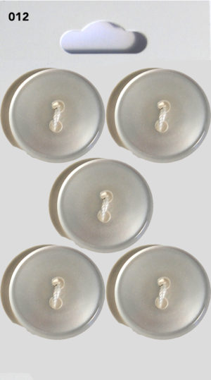 Knit & Sew ROUND BUTTONS – CLEAR – 012