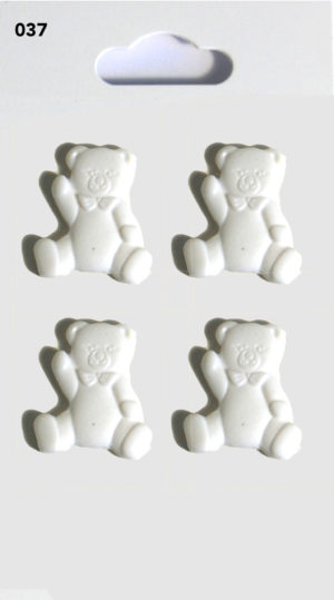 Buttons TEDDY BUTTONS – WHITE – 037