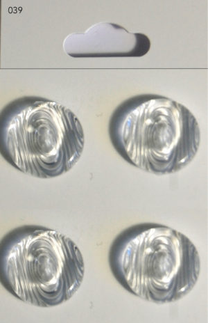 Buttons 039 RIMMED BUTTONS – CLEAR