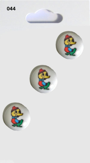 Buttons ROUND DUCK BUTTONS – WHITE – 044