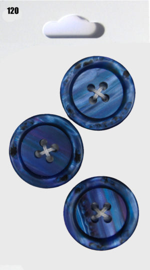 Buttons RIMMED BUTTONS – BLUE SHELL EFFECT – 120
