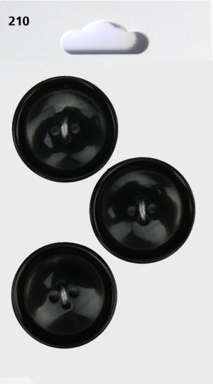 Buttons RIMMED BUTTONS – BLACK – 210