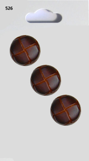 Buttons ROUND BUTTON – LEATHER EFFECT – 526