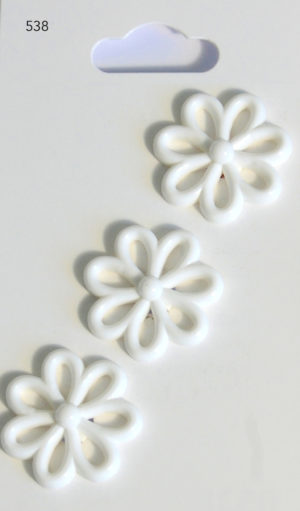 Buttons NOVELTY FLOWER BUTTONS – WHITE – 538