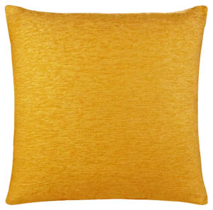 Cushion Covers PLAIN CHENILLE CUSHION COVER OCHRE