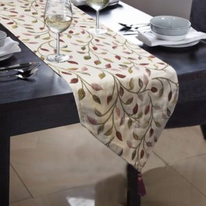 Kitchen & Dining LEAF JACQUARD TABLE RUNNER