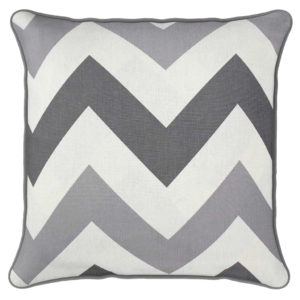 Cushion Covers CHEVRON CUSHION COVERS GREY