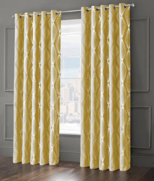 Curtains ONYX RING TOP CURTAINS OCHRE