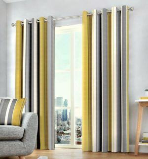 Curtains WHITWORTH RING TOP OCHRE