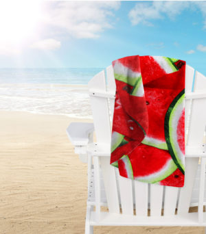 Bathroom MICROFIBRE BEACH TOWEL WATERMELON