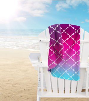 Bathroom MICROFIBRE BEACH TOWEL LATTICE PINK