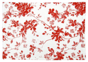 Kitchen & Dining PLACEMAT RED FLOWER