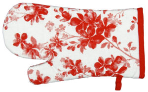 Kitchen & Dining SINGLE GLOVE RED FLOWER