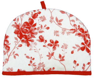 Kitchen & Dining TEA COSY RED FLOWER