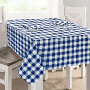 Kitchen & Dining SEERSUCKER TABLECLOTH BLUE