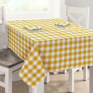 Kitchen & Dining SEERSUCKER TABLECLOTH OCHRE