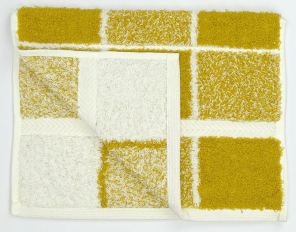 Bathroom CHEQUERS GUEST TOWEL OCHRE