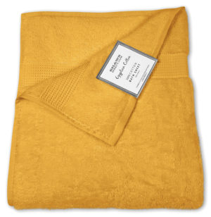 Bathroom PLAIN EGYPTIAN TOWELS MUSTARD