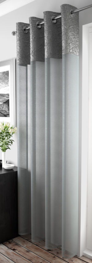 Curtains MADEIRA RING TOP VOILE SILVER