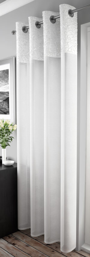 Curtains MADEIRA RING TOP VOILE WHITE