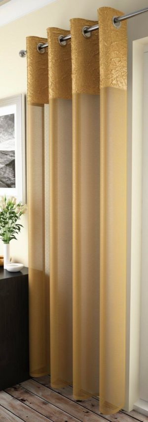 Curtains MADEIRA RING TOP VOILE OCHRE