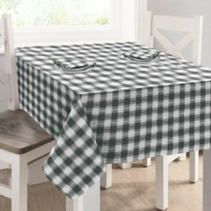 Kitchen & Dining SEERSUCKER TABLECLOTH GREY