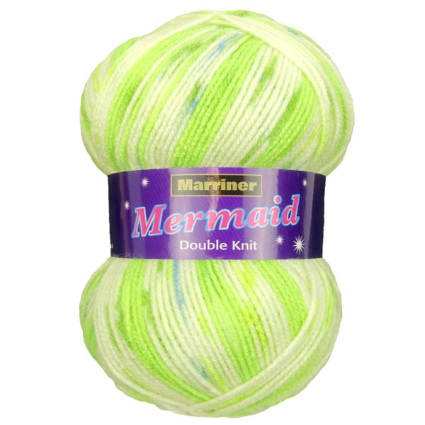 Knit & Sew MARRINER YARNS MERMAID DOUBLE KNIT GREEN SPECKLE