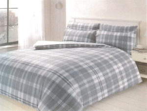 Bedding HIGHLAND CHECK QUILT COVER SILVER