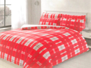 Bedding HIGHLAND CHECK QUILT COVER RED