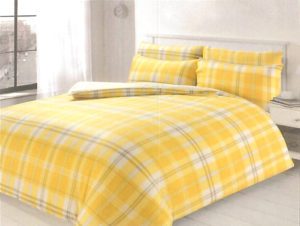 Bedding HIGHLAND CHECK QUILT COVER OCHRE