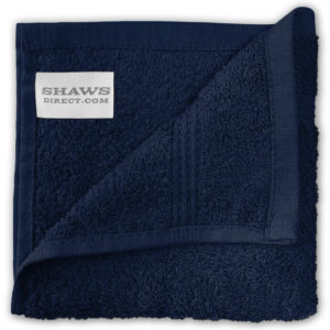 Bathroom PLAIN EGYPTIAN FACE CLOTHS NAVY