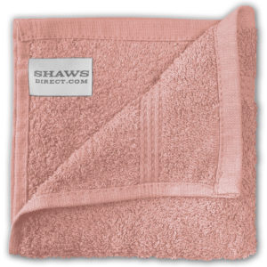 Bathroom PLAIN EGYPTIAN FACE CLOTHS BLUSH