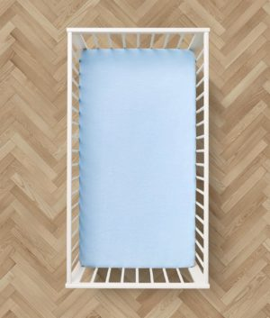 Bedding 2 BRUSHED COTTON FLAT BABY SHEETS BLUE