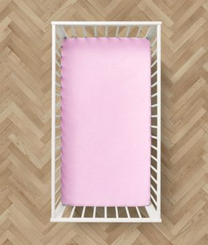 Bedding 2 BRUSHED COTTON FLAT BABY SHEETS PINK