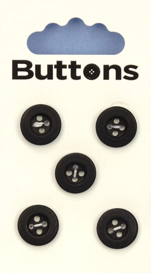 Buttons RIMMED BUTTONS – 222 – BLACK