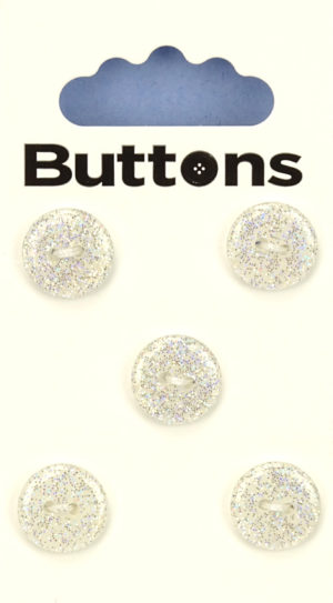 Buttons ROUND GLITTER BUTTONS – 289 – WHITE